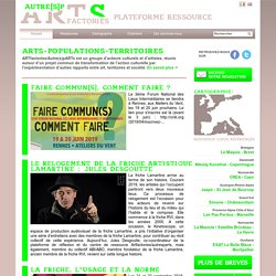 Les nouveaux territoires de l'art à l'étude avec ARTFACTORIES