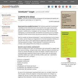L'arthrite et le stress « JointHealth™ mensuel