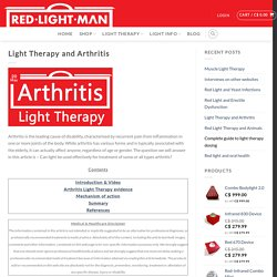 Light Therapy Improves Arthritis Dramatically - Red Light Man