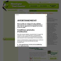 Arthrose - La boutique du guérisseur