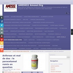 Arthrose et mal de dos : le paracetamol remis en question