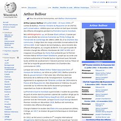 Arthur James Balfour 1848-1930