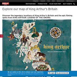 King Arthur Map of Britain
