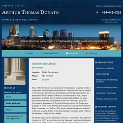 Delaware County Criminal Defense Lawyer - Arthur T. Donato Jr.