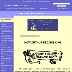 King Arthur and His Knights by Maude Radford Warren