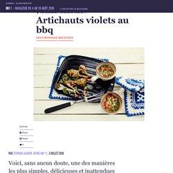 Artichauts violets au bbq
