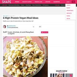 Vegan Meals: Leek, Artichoke, and Lentil Mung Bean Linguine - Healthy Meal Ideas: 6 High-Protein Vegan Recipes