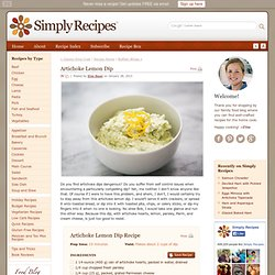 Artichoke Lemon Dip Recipe