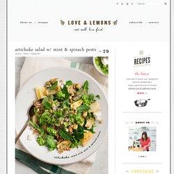 Artichoke Salad w/ Mint & Spinach Pesto Recipe