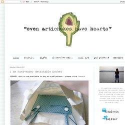 i am hand-made: detachable pocket