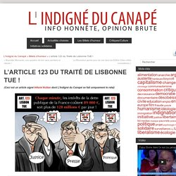 L'article 123 du Traité de Lisbonne TUE !