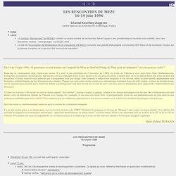 """Séminaire """" développement viable"""" juin 1996, Mèze"""