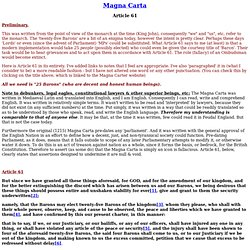 Article 61 of the Magna Carta