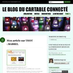 Mon article sur THOT : BABBEL « Le blog du cartable connecté