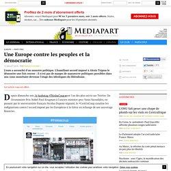 Article offert : Une Europe contre les peuples et la démocratie