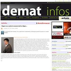 Article/Dépêche - Signer un contrat commercial en ligne...