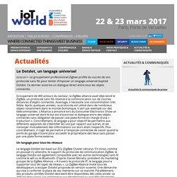 Article/Dépêche - Le Dotdot, un langage universel