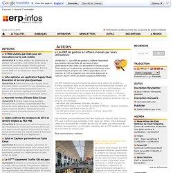 Les ERP de gestion à l'affaire évalués par leurs utilisateurs
