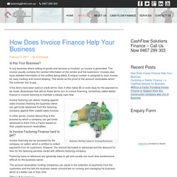 Accounts Receivable Factoring - businesscashflowsolutions.com.au