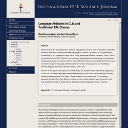 Article 1 - Vol 1 (2) 2009 - International CLIL Research Journal