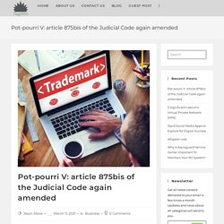 Pot-pourri V: article 875bis of the Judicial Code again amended - DiggiWeb