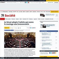 Le Sénat adopte l'article qui ouvre le mariage aux homosexuels