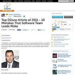 10 Mistakes That Software Team Leads Make