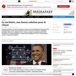 Article offert : Le nucléaire, une fausse solution pour le climat