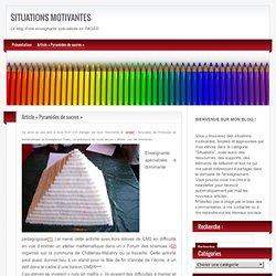 ex Activités Maths «Pyramides de sucres»