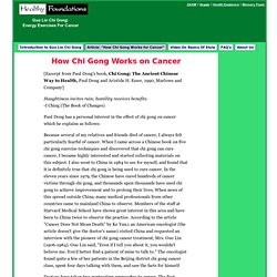 Article: How Qiqong Works on Cancer
