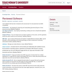 Article Detail - Reviewed Software