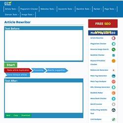 Free Article Rewriter Tool -Paraphrasing Tool