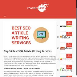 Best SEO Article Writing Services - ContentHeat