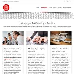 Article Spinning in Deutsch - Service und Preise