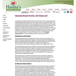 Standardized Herbs All Natural