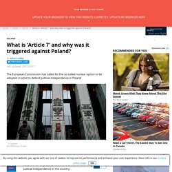 What is 'Article 7' and why was it triggered against Poland?