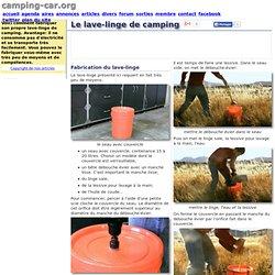 Article: BONS TUYAUX: Le lave-linge de camping