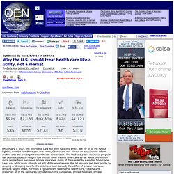 Why the U.S. should treat health care like a utility, not a market