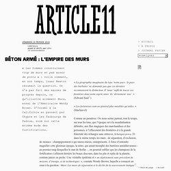 Béton armé : l'Empire des murs