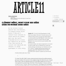Clément Méric, mort pour ses idées dans un monde sans idées - Serge Quadruppani et Odile Henry