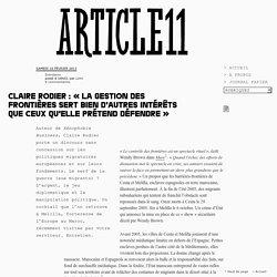 Claire Rodier : « La gestion des frontières sert bien d'autres intérêts que ceux qu'elle prétend défendre