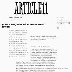 Alain Soral, petit idéologue et grand épicier