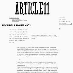 Le cri de la tomate - n°1 - Jean-Luc Porquet