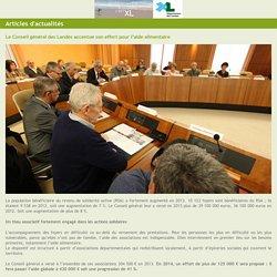 PREFECTURE DES LANDES 03/02/14 Le Conseil général des Landes accentue son effort pour l'aide alimentaire