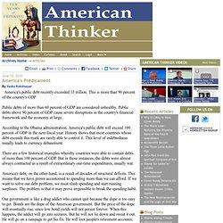 American Thinker: America's Predicament