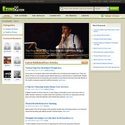 Health Articles at Ezine9 - Search Engine Article Directory