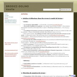 Articles - BRODIEZ-DOLINO Axelle