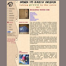 Down to Earth Design - online articles on natural building & sustainable design