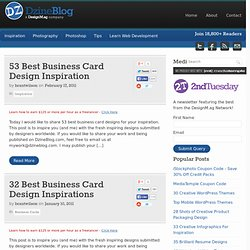 Business Card at DzineBlog
