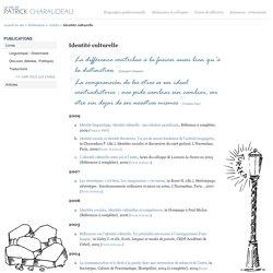 Articles de Patrick Charaudeau - Identité culturelle